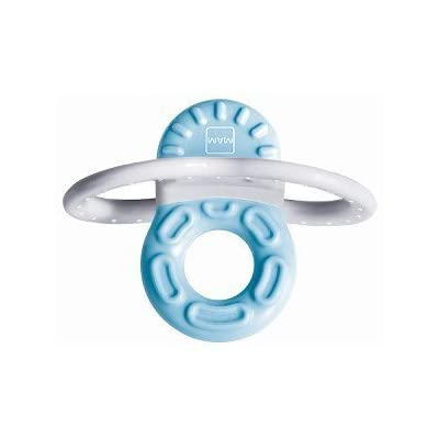 MAM Bite And Relax Phase 1 Mini Teether - Blue : Baby Pacifiers : Baby