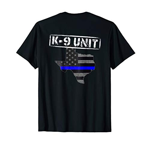 Texas K-9 Police Officer T-Shirt LEO Law Enforcement