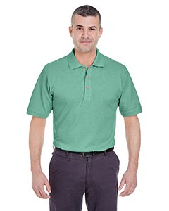 UltraClub Men's Classic Pique Polo Shirt - Leaf 8535 ()