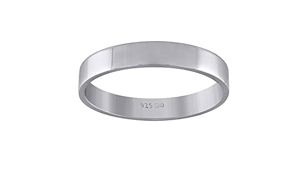 Jewels By Lux Sterling Silver Unisex 3mm-SZ9 Flat Comfort-fit Wedding Band Ring Ring Size 9