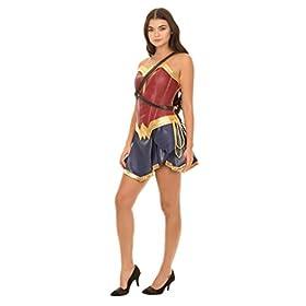 - 31YJuqRNExL - Dc Comics Wonder Woman Warrior Corset and Skirt Costume Set