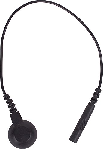 Roscoe Medical WS3147-AMZN Snap Adaptor Lead Wires for TENS/EMS Units, Black with Pigtail