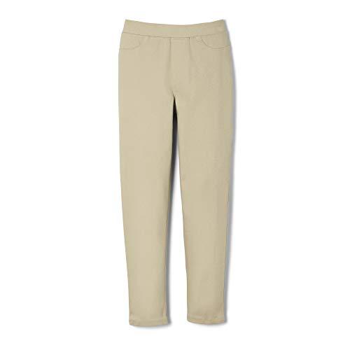 (French Toast Girls' Little Stretch Skinny Pull-On Pant, Khaki, 5)