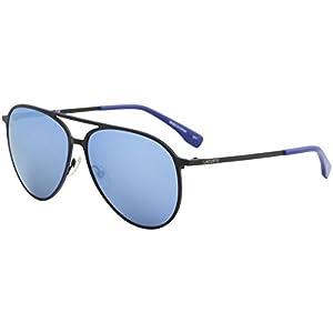 Lacoste Unisex L179S Aviator Sunglasses, Satin Black, 59 mm