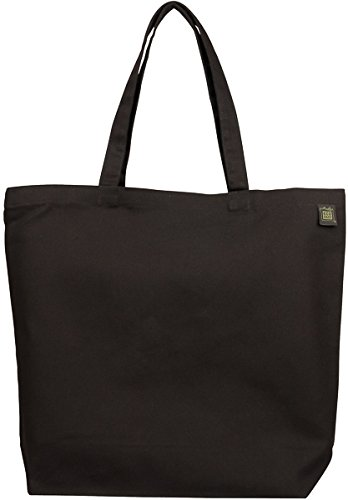ECOBAGS Organic Canvas Tote Bag, Black by Ecobags