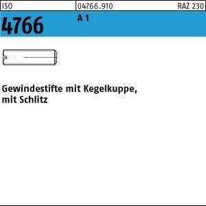 25 Edelstahl Schlitz Gewindestifte ISO 4766 1.4305 M5x25