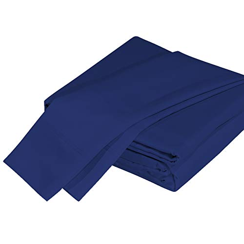 DTY Bedding Premium 100% Organic Bamboo Viscose 4-Piece King Bed Sheet Set, Luxuriously Soft and Comfortable, Oeko-TEX Certified Bamboo Sheets, Fits Mattresses up to 18 in - King, Indigo ()