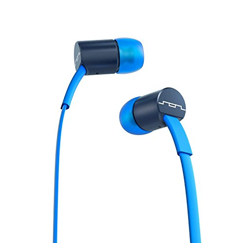 Apple 3 Button Mic - SOL REPUBLIC Jax Wired 3-Button In-Ear Headphones, Apple Compatible, Tangle Free Cable, In-Ear Noise Isolation, 4 Ear Tip Sizes, Great For Calls, 1111-36 Blue