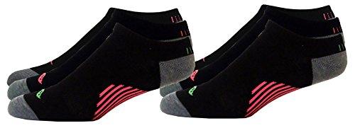 (Saucony Women's No Show Athletic Performance Sport Socks, Black Asst, W 6-10.5 Shoe, 6 Pair)