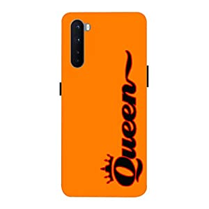 LETAPS Printed Mobile Back Hard Case Cover for OnePlus Nord/OnePlus Z (Kesari Orange, Solid, Plain Colour, Queen G)