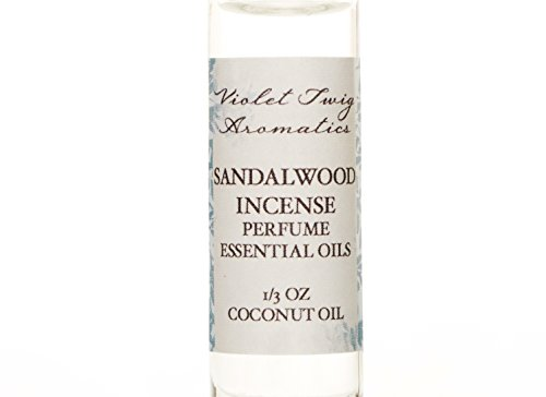 Organic Sandalwood Incense Oil - Men's Rollerball Oil - Nag Champa Incense - Essential Oil Perfume - Women's Perfume - Cologne for Men by Violet Twig Aromatics (Image #1)