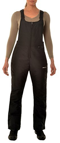 Women's Insulated Overalls Bib, 2X, Black