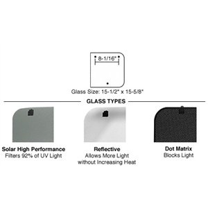 R7601 - CRL 17 x 35 Right Hand Side T-Port Sunroof Black Dot Matrix Replacement Glass ()