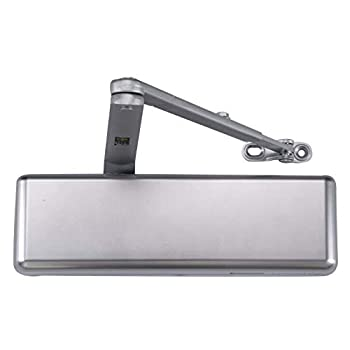 Image of Extra Heavy Duty Designer Commercial Door Closer -LYNN Hardware DC9016 (US26D Aluminum)- Surface Mounted, Grade 1, Cast Iron, UL 3 Hour Fire Rated & ADA for High Abuse & Extreme Traffic doorways