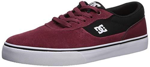 DC Men's Switch Skate Shoe, Maroon, 11.5D M US