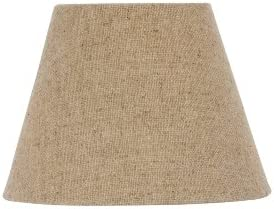Upgradelights Beige Burlap 12 Inch Empire Style Washer Lampshade Replacement 6x12x8
