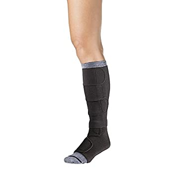 Image of 30-40 Mmhg Compreflex Below Knee W/Boot; Low Stretch; Lg Reg;Black SIGVARIS