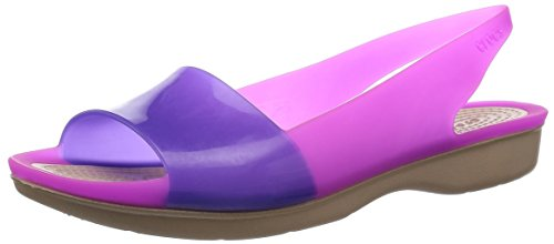 crocs Women's ColorBlock Slingback Flat