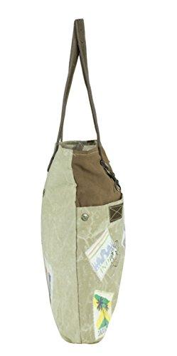 Sunsa Borse da Donna Vintage Borse a tracolla Borsette in Canvas / Telo olona con pelle 51736