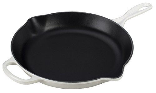 Le Creuset 11.75' (2-3/8 qt.) Signature Iron Handle Skillet - White