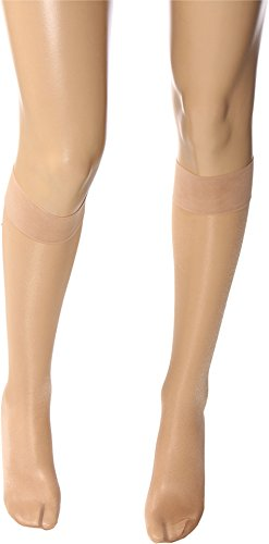 Bare Pantyhose - Wolford Satin Touch 20 Denier Knee Highs, Small, Cosmetic