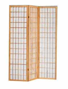 Amazoncom The Furniture Source 3 Panel Natural Color Wood Shoji