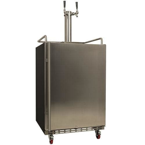 EdgeStar KC7000SSTWIN Full Size Dual Tap Tower Cooled Built-In Keg (Large Image)