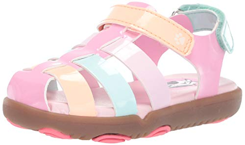 Hush Puppies Girls' Sandy Sandal, Multi, 070 Medium US -