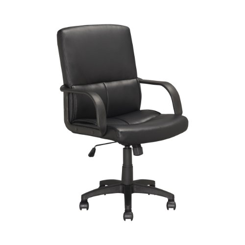 CorLiving LOF-308-O Executive Office Chair, Black Leatherett