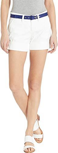 Polo Shorts Chino (U.S. Polo Assn. Women's Chino Shorts Optic White 9)