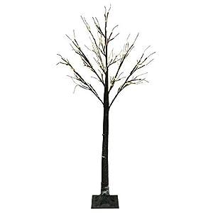Jaymark Products 6ft (180cm) Floor Standing Christmas Indoor & Outdoor Snowy Effect Brown Tree in Warm White 2