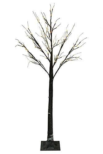 Jaymark-Products-6ft-180cm-Floor-Standing-Christmas-Indoor-Outdoor-Snowy-Effect-Brown-Tree-in-Warm-White
