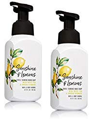 Bath and Body Works Gentle Foaming Hand Soap, Sunshine and Lemons 8.75 Ounce (2-Pack) with White Tea and Ginseng Extracts ()