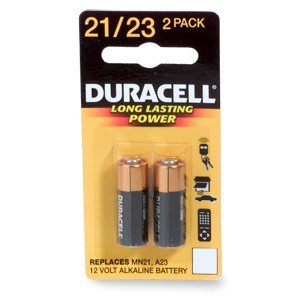 Duracell MN21B2PK Watch/Electronic/ Keyless Entry Battery, 12 Volt - Battery Door Garage Opener
