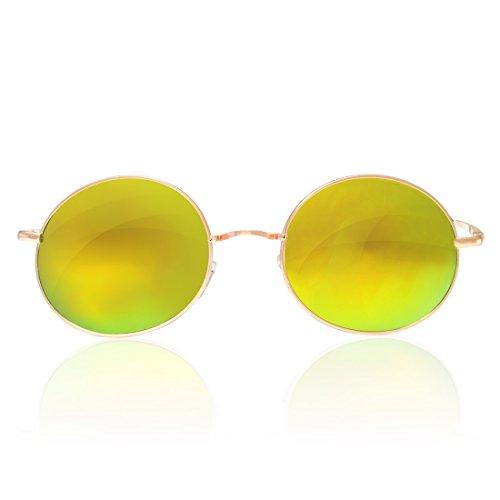 ou New Unisexe Soleil Soleil de de Objectif 4sold Miroir nbsp;Marque rainbow Lunettes round UV400 Lunettes mirror SXwdxq