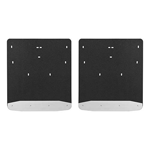 (LUVERNE 251124 Rear Dually Textured Rubber Mud Guards Black 20-Inch x 23-Inch Select Ford F-350, F-450 Super Duty)