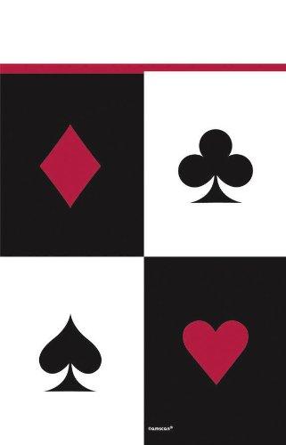 Caseta de mantel - Casino - 137 x 243 cm PIC Corazón cuadros Cruz BUBE DAME KÖNIG ASS: Amazon.es: Juguetes y juegos