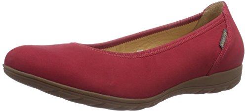 Emilie Rot Mujer Para Rojo Mephisto Bucksoft Red red Cuero De Bailarinas 6948 Awqqd8RvnH
