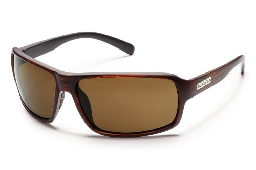 Suncloud Tailgate Polarized Sunglasses, Burnished Brown Frame, Brown - Sunglasses Suncloud Polarized