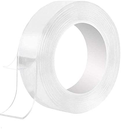 16.5FT Double Sided Tape Adhesive Nano Tape Transparent Washable Reusable Multipurpose Sticky