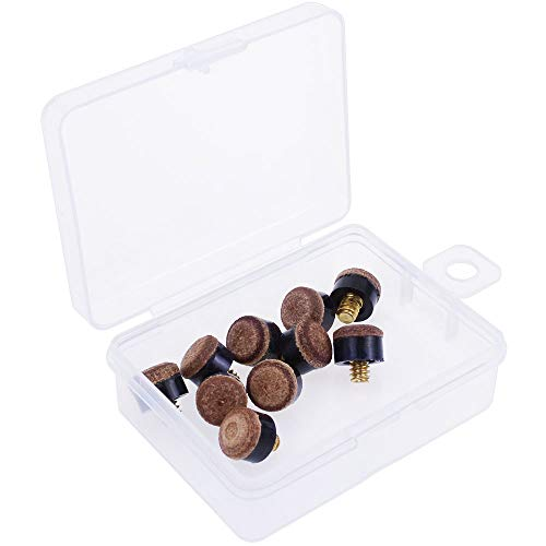 cueball16 Leather Brass Screw on Cue Tips for Snooker or Pool Cues