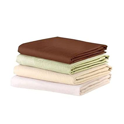 NRG Deluxe Flannel Fitted Massage Sheet (White) - Qty 3 - Great Linen for Spa, Salons & Massage Tables Scripco