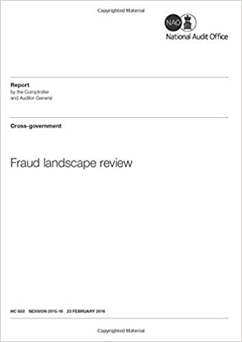 Fraud Landscape Review House Of Commons Hc 850 Audit Office National 9781786040329 Amazon Com Books