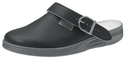 Abeba - Calzado de protección de Piel para hombre Negro negro 40
