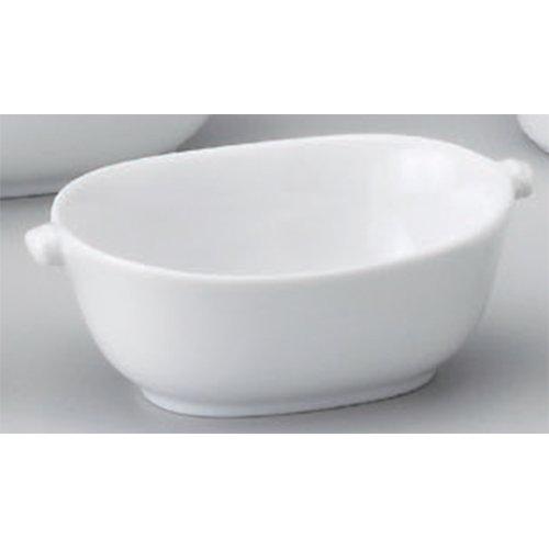 Plate utw681-27-654 [4.8 x 3.1 x 1.6 inch] Japanece ceramic Ear with oval gratin (S) tableware