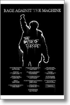 RATM Rage Against The Machine Battle Of Europe Tour Large Music Poster 61 by 91.5cm by ElitePosters