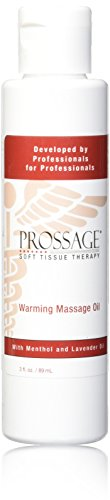 Prossage Heat Warming Relief Massage Oil for Therapuetic Massages, Deep Tissue Massages, and Aromatherapy, Topical Pain Reliever for Soft Tissue Mobilization, Muscle Pain Relief, 3 Ounce - Oil Tissue Deep