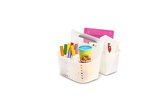 Frosted Tote (Madesmart Baby Portable Tote Caddy Organizer, Large, Frosted, Clear)