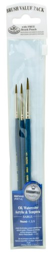 Royal Langnickel Sable Brush Short (Royal & Langnickel Royal Zip N' Close Sable Round 3-Piece Brush Set)