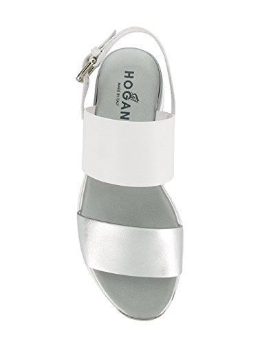 Leather Silver Women's Sandals White Hogan HXW2570AI30IYO0906 nB4f8
